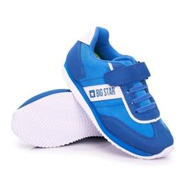 Sportowe Buty Dziecięce Big Star Na Rzepy Niebieskie FF374133 3