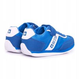 Sportowe Buty Dziecięce Big Star Na Rzepy Niebieskie FF374133 2