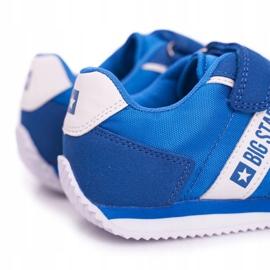 Sportowe Buty Dziecięce Big Star Na Rzepy Niebieskie FF374133 4