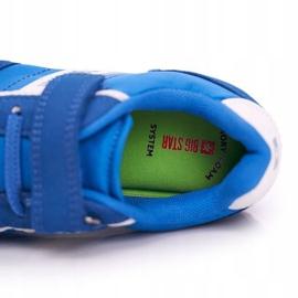 Sportowe Buty Dziecięce Big Star Na Rzepy Niebieskie FF374133 5