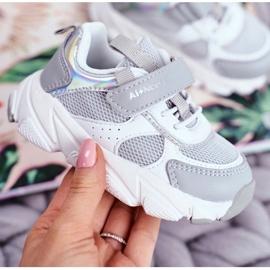 Sportowe Buty Dziecięce Szare ABCKIDS B011104349 białe 4