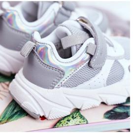 Sportowe Buty Dziecięce Szare ABCKIDS B011104349 białe 3