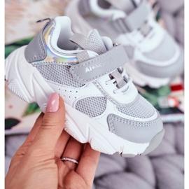Sportowe Buty Dziecięce Szare ABCKIDS B011104349 białe 2