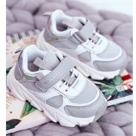 Sportowe Buty Dziecięce Szare ABCKIDS B011104349 białe 1