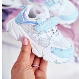 Sportowe Buty Dziecięce Niebieskie ABCKIDS B011104349 białe 2