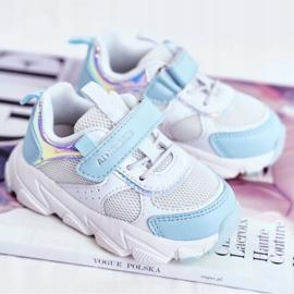 Sportowe Buty Dziecięce Niebieskie ABCKIDS B011104349 białe 1