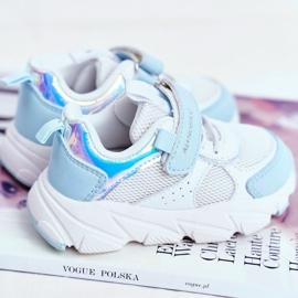 Sportowe Buty Dziecięce Niebieskie ABCKIDS B011104349 białe 3