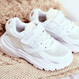 Sportowe Buty Dziecięce Białe Abckids B933204077 3