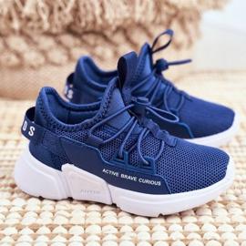 ABCKIDS POLAND Sp. z o.o. Sportowe Buty Dziecięce Młodzieżowe Granatowe Abckids B012210073 1