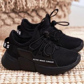 ABCKIDS POLAND Sp. z o.o. Sportowe Buty Dziecięce Młodzieżowe Czarne Abckids B012210073 1