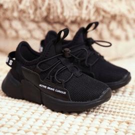 ABCKIDS POLAND Sp. z o.o. Sportowe Buty Dziecięce Młodzieżowe Czarne Abckids B012210073 2