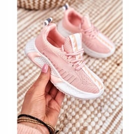 FRROCK Sportowe Buty Dziecięce Różowe Stich 1