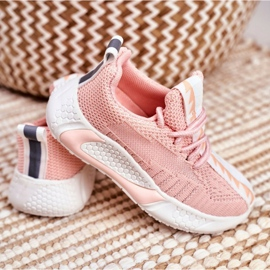 FRROCK Sportowe Buty Dziecięce Różowe Stich 4