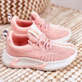 FRROCK Sportowe Buty Dziecięce Różowe Stich 3