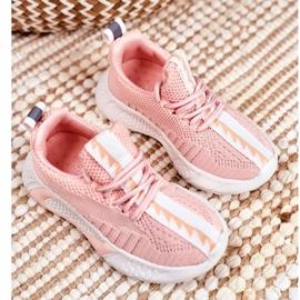 FRROCK Sportowe Buty Dziecięce Różowe Stich 2