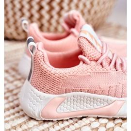 FRROCK Sportowe Buty Dziecięce Różowe Stich 5