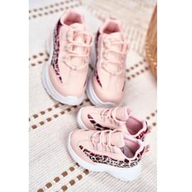 FRROCK Sportowe Buty Dziecięce Różowe Dante 6