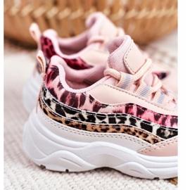 FRROCK Sportowe Buty Dziecięce Różowe Dante 4