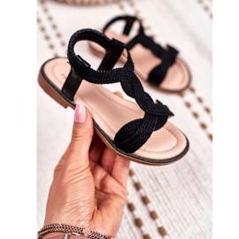 FRROCK Dziecięce Sandały Czarne Lamado 3