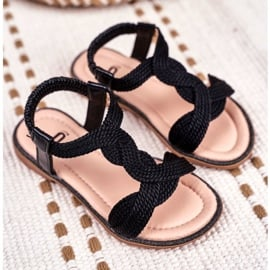 FRROCK Dziecięce Sandały Czarne Lamado 2