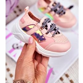 FRROCK Dziecięce Sportowe Buty Różowe Velma 1