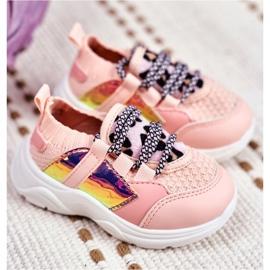 FRROCK Dziecięce Sportowe Buty Różowe Velma 2