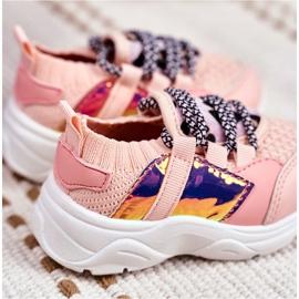 FRROCK Dziecięce Sportowe Buty Różowe Velma 3