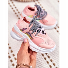 FRROCK Dziecięce Sportowe Buty Różowe Velma 4