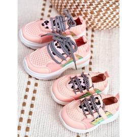 FRROCK Dziecięce Sportowe Buty Różowe Velma 6