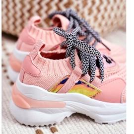 FRROCK Dziecięce Sportowe Buty Różowe Velma 5