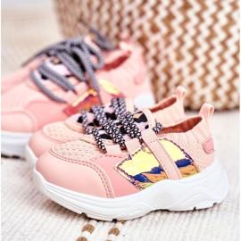 FRROCK Dziecięce Sportowe Buty Różowe Velma 7
