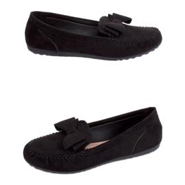 Mokasyny damskie czarne B2020-6 Black 1