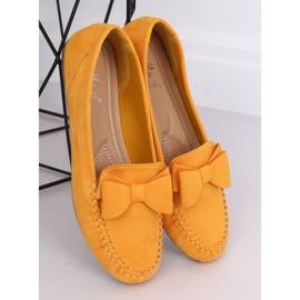 Mokasyny damskie miodowe B2020-6 Yellow żółte 1