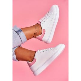 SEA Sportowe Damskie Buty Białe z Różowym Zapiętkiem Milly 2