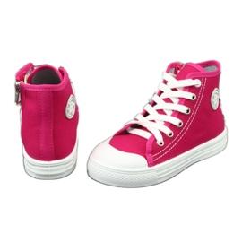 Befado obuwie dziecięce 438X012 różowe 4