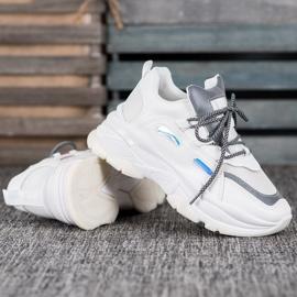 Small Swan Sportowe Sneakersy białe 1
