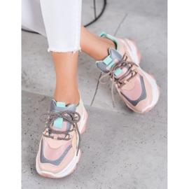 Small Swan Sportowe Sneakersy różowe 1