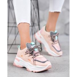 Small Swan Sportowe Sneakersy różowe 4