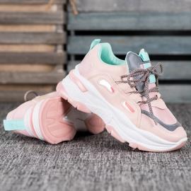 Small Swan Sportowe Sneakersy różowe 3