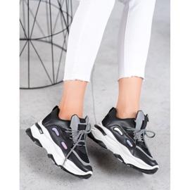 Small Swan Sportowe Sneakersy czarne 6