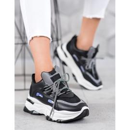Small Swan Sportowe Sneakersy czarne 5