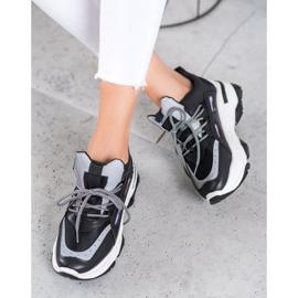 Small Swan Sportowe Sneakersy czarne 1
