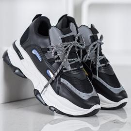 Small Swan Sportowe Sneakersy czarne 4