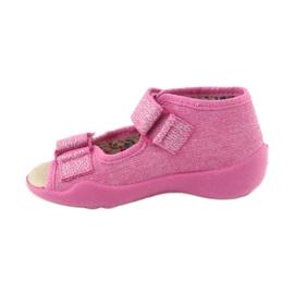 Befado żółte obuwie dziecięce 342P011 różowe szare 2