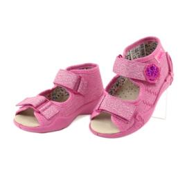 Befado żółte obuwie dziecięce 342P011 różowe szare 3