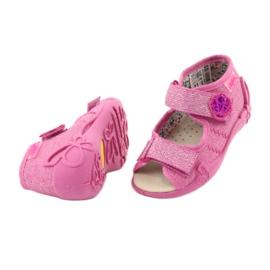 Befado żółte obuwie dziecięce 342P011 różowe szare 4