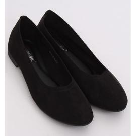 Miękkie baleriny damskie czarne NK17P Black 3