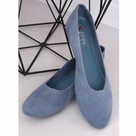 Miękkie baleriny damskie niebieskie NK17P Blue 4