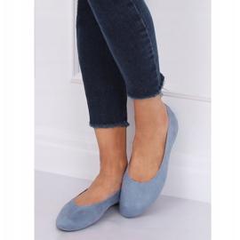 Miękkie baleriny damskie niebieskie NK17P Blue 1