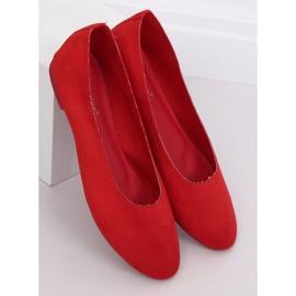 Miękkie baleriny damskie czerwone NK17P Red 3